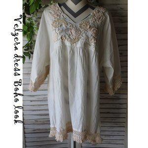 Velzera Plus Peasant Dress (134)
